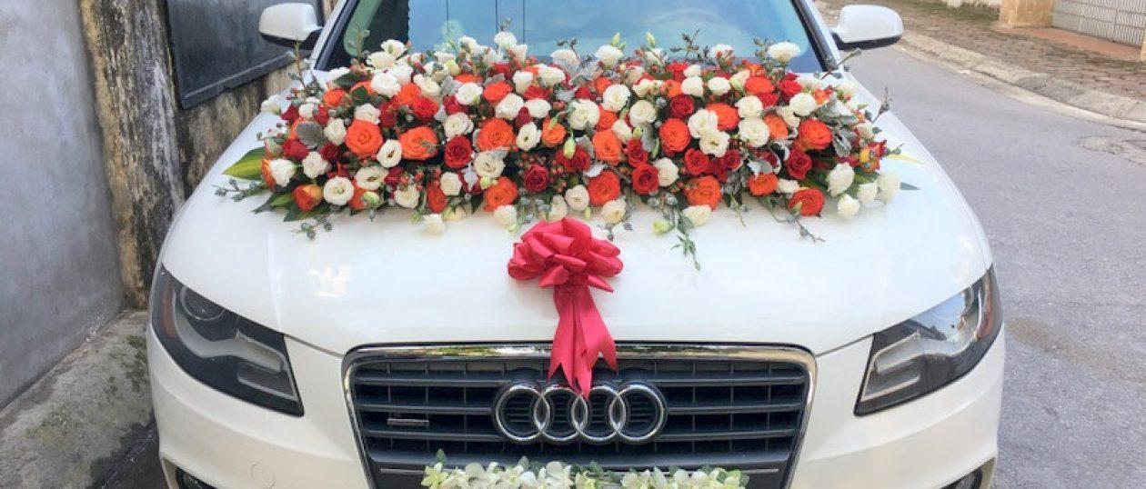 Xe cưới Audi A4 trắng